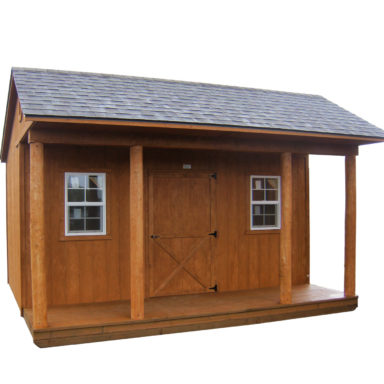 full eave porch shed options