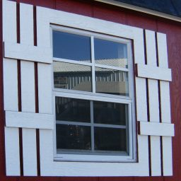 fixed window shutters shed option