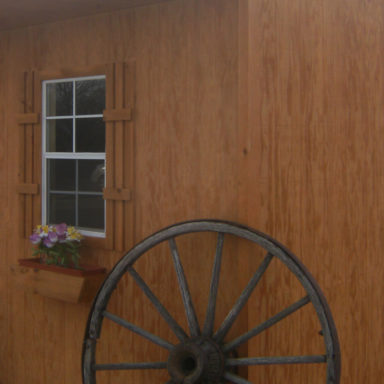 stain grade shed option siding or
