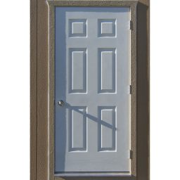 optional 3ft metal fiberglass out swing insulated door with residential locking door knob
