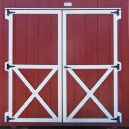6′ optional double doors barn quaker