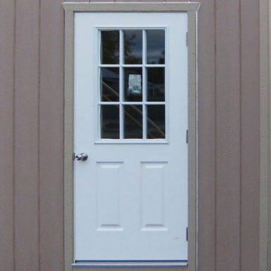 entry door w 9 lite shed options