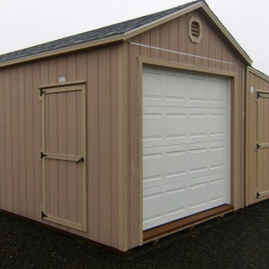 Garage with Standard Walk in door Optional Transom window 1