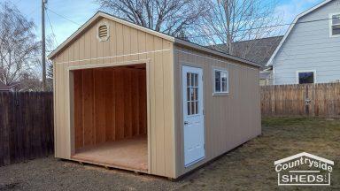 storage shed built onsite in oregon