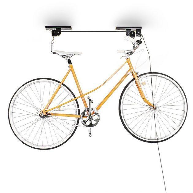 bike shed pulley storage