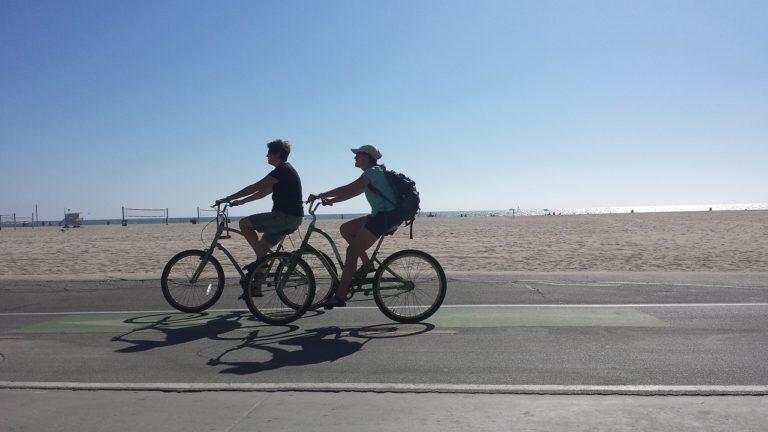 bike shed riding on beach