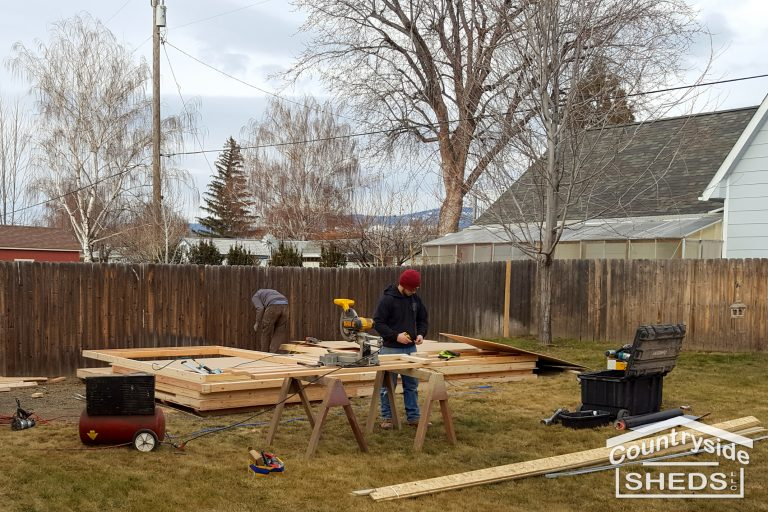 onsite construction custom shed