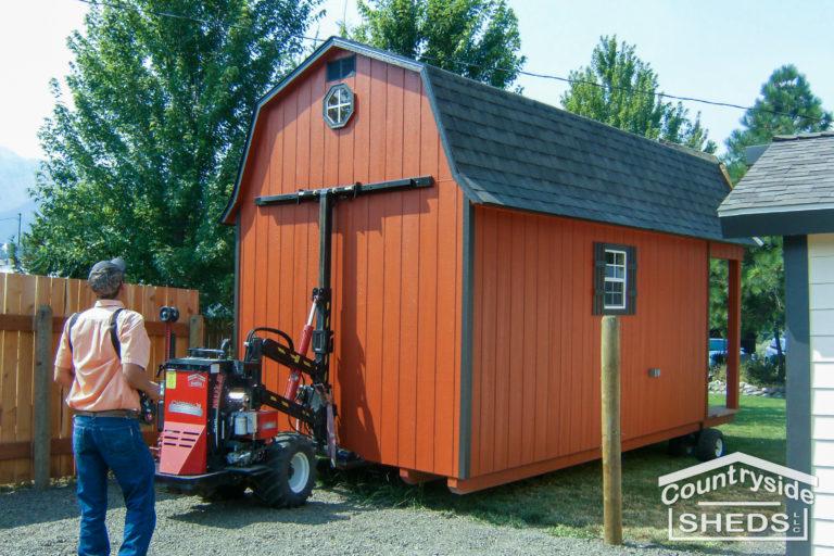 prebuilt and delivered shed option
