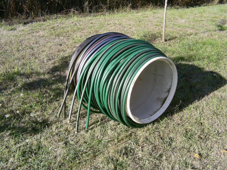 drum roll hose reel gardne storage shed