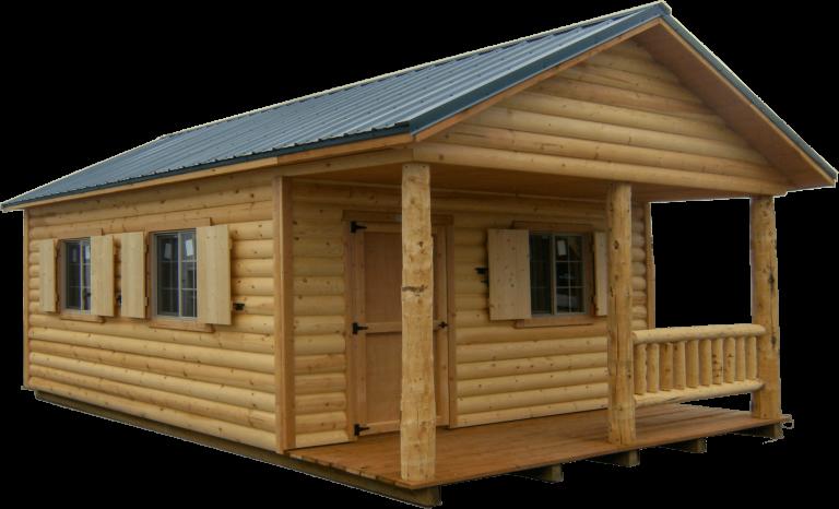 log cabin shed