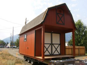 2 10x10 dutch barn wood shed