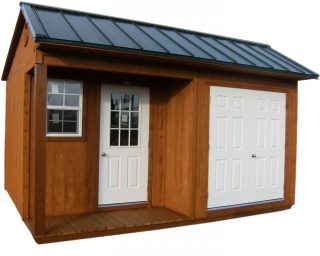 gable wood storage shed near me