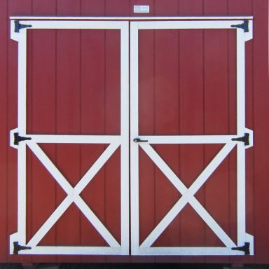 6′ optional double doors barn quaker