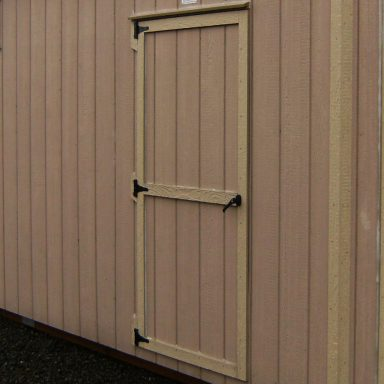 self latching hand crafted 43″ wide door 2