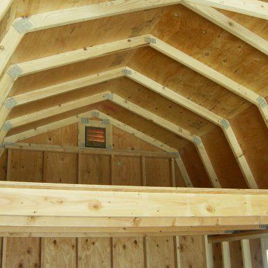 "Tall Barn Loft notice the Loft Height 2x6 Loft Joists ¾"" Floor Loft Plywood 1"